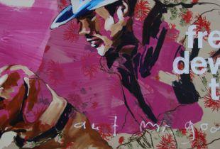 2 Freunde warten auf Mr. Godat, , 100 x 200 cm, 2011, Acryl auf Leinwand