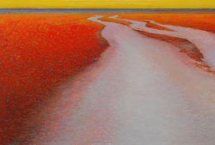 Abendstimmung, , 100 x 150 cm, 2010, Öl auf Nessel