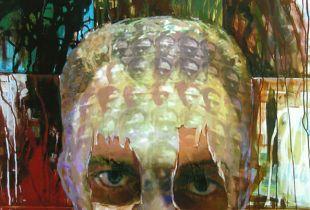 Ohne Titel, , 120 x 145 cm, 2008, Mixmedia auf Leinwand