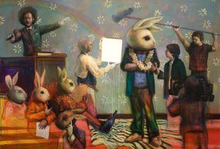Auction, 200 x 300 cm, 2010, Acryl auf Leinwand