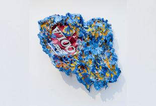 Coladose Europa, 24 x 24 cm, , Öl auf Coladose auf Leinwand