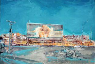 Casino Mallorca, , 180 x 200 cm, 2007, Acryl und Silber auf Leinwand