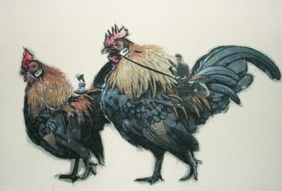 Cockeral Lord & Lady, , 159 x 99 cm, 2011, Mixmedia auf Leinwand