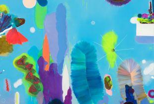Deep, 150 x 120 cm, 2018, Gouache, Öl und Acryl auf Leinwand