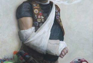 Der Vater, Cho, Jun Ho, 150 x 100 cm, 2009, Acryl auf Leinwand