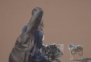 Die Begegnung, 110 x 130 cm, 2016, Öl auf Leinwand
