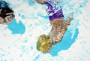 Dolphin Dancer, , 80 x 160 cm, 2011, Acryl auf Leinwand