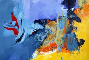 Drache, , 200 x 250 cm, 2008, Öl auf Leinwand