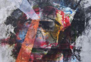 Duplex IIa, Nusbaum, Dieter, 100 x 100 cm, 2015, Mischtechnik auf Aludibond