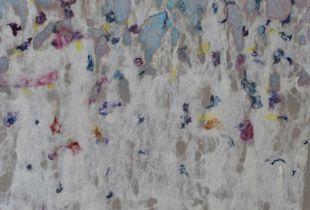 Ohne Titel, , 240 x 190 cm, 2008, Öl und Filz auf Leinwand