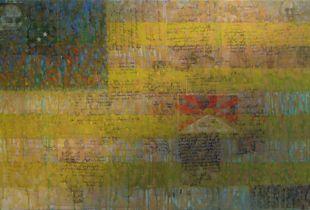 Flagge, , 70 x 100 cm, 2011, Mixmedia auf Leinwand