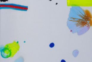 Floating, 70 x 50 cm, 2015, Gouache, Öl und Acryl auf Leinwand