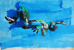 Flying, , 240 x 200 cm, 2012, Acryl auf Leinwand