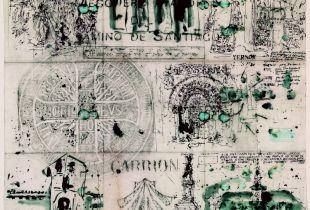 Mesonero Mayor del Camino de Santiago, , 60 x 70 cm, 2008, Graphit, Tinte, laviert auf chinesischem Papier