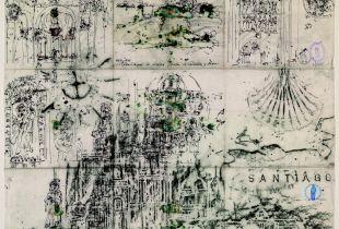 Villalcazar de Sirga, , 60 x 70 cm, 2008, Graphit, Tinte, laviert auf chinesischem Papier