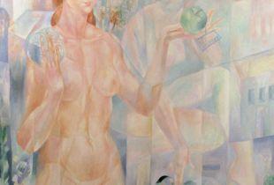 Das Gewicht des Apfels, , 100 x 80 cm, 2009, Öl auf Leinwand