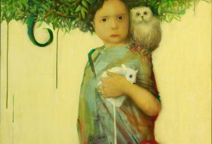 Girl, Cho, Jun Ho, 150 x 100 cm, 2009, Acryl auf Leinwand