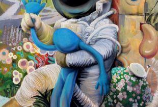 Girl Outsider, 140 x 120 cm, 2017, Acryl auf Leinwand