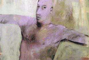 Harlekin, , 100 x 80 cm, , Mixmedia auf Leinwand