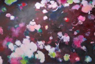 Hortensien, , 130 x 220 cm, 2011, Öl auf Leinwand