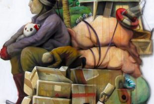 Imigration, 140 x 120 cm, 2017, Acryl auf Leinwand