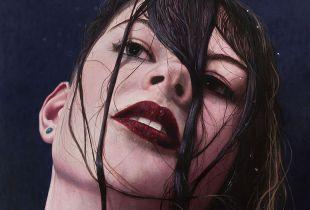Shower Musing, 100 x 100 cm, 2019, Öl auf Leinwand
