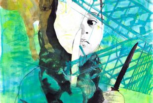 Kinderspiel, 150 x 160 cm, 2010, Mixmedia auf Papier