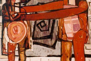 Er und Sie, , 200 x 180 cm, 1993, Öl auf Leinwand