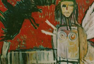 The King and the Bird, , 180 x 200 cm, 1993, Öl auf Leinwand