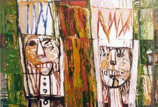 Two Kings, , 130 x 160 cm, 1994, Öl auf Leinwand