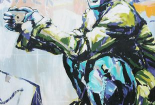 Klick, , 240 x 200 cm, 2007, Acryl auf Leinwand
