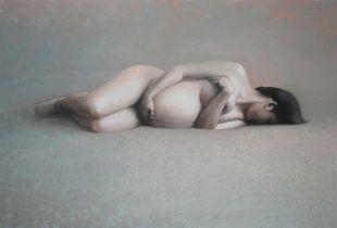 Kuss, , 125 x 185 cm, 2008, Öl auf Nessel