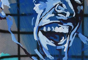 Lacher, , 160 x 140 cm, 2011, Acryl auf Leinwand