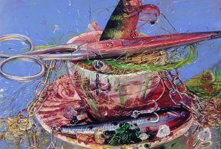 Spicy Teaparty, 60 x 80 cm, 2014, Öl auf Leinwand