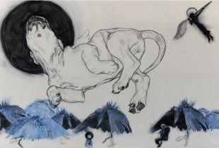 Let Sleeping Dogs Lie, , 220 x 120 cm, 2012, Mixmedia auf Leinwand