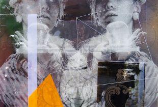 Lineup III, Nusbaum, Dieter, 60 x 60 cm, 2015, Mischtechnik auf Holz