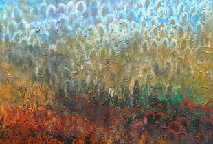 Landschaft im Mai, 75 x 65 cm, 2013, Öl auf Leinwand