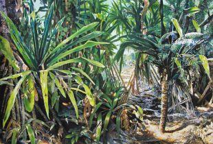 Mangroven Strand, , 130 x 170 cm, 2002, Gouache und Öl auf Leinwand