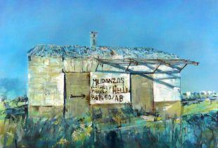 Mudanzas, , 180 x 200 cm, 2007, Acryl und Silber auf Leinwand