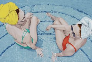 My foolish Heart, , 90 x 185 cm, 2011, Acryl auf Leinwand