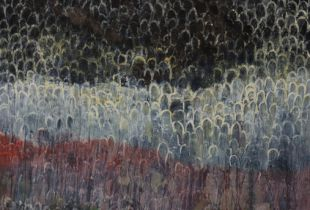 Nacht Landschaft, , 190 x 155 cm, 2011, Öl auf Leinwand