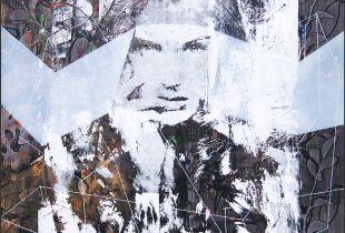 Visible, 80 x 80 cm, 2018, Mischtechnik auf Leinwand