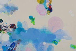 Ohne Titel, 180 x 230 cm, 2015, Gouache, Öl und Acryl auf Leinwand