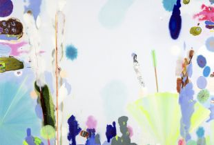 Oktober, 180 x 230 cm, 2019, Gouache, Öl und Acryl auf Leinwand