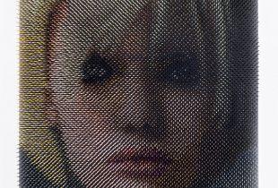 Optical Porträt #51, 80 x 60 x 9 cm, 2018, Lack auf Holz