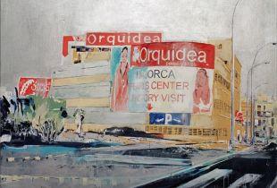Orquidea Factory, , 180 x 200 cm, 2007, Acryl und Silber auf Leinwand