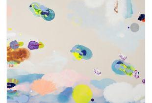 Ohne Titel, 150 x 130 cm, 2017, Gouache, Öl und Acryl auf Leinwand