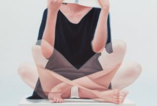 Overlapping, 80 x 117 cm, 2015, Öl auf Leinwand