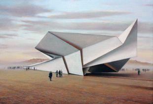 Papierflieger, , 90 x 120 cm, 2012, Öl auf Leinwand
