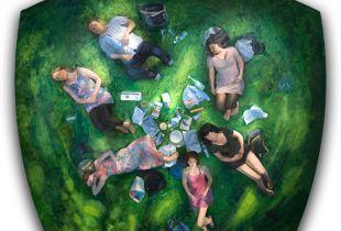 Picknick, , 248 x 276 x 25.5 cm, 2009, Öl auf Leinwand